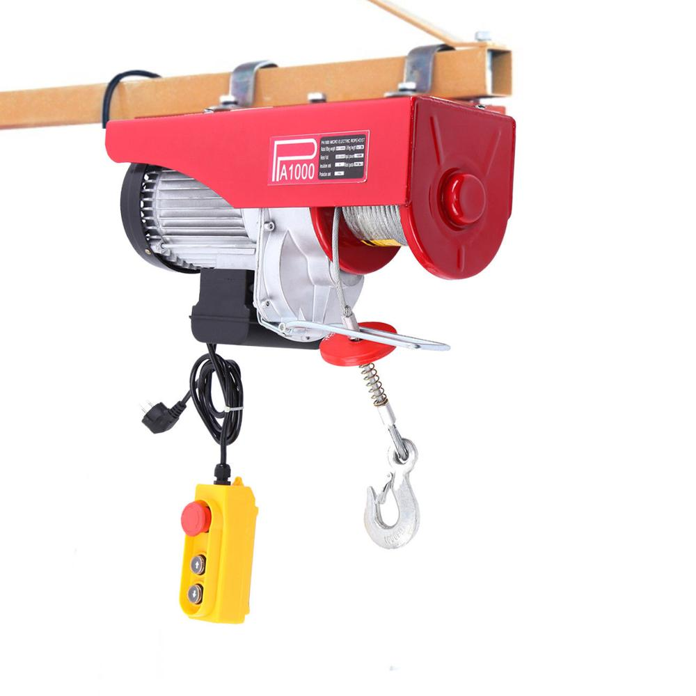 500/1000kg Electric Winch Strong Quality Handhold Portable Winch Workshop Garage Gantry Hoist Lifting 220V
