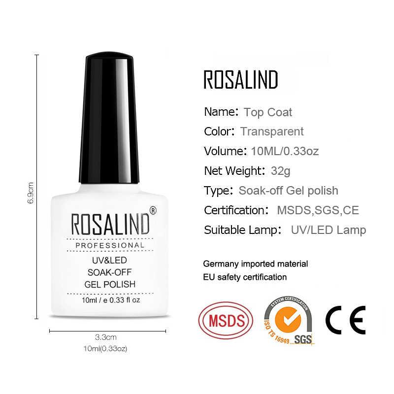 ROSALIND Đa Năng & Base Coat 10ML Vernis Bán Thường Trực Trên và Căn Cứ cho gel dầu bóng Ngâm ngoài khơi UV LED Đèn Móng Tay thiết kế