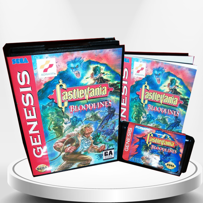 Bloodlines NTSC-U Available US Cover with Box and Manual for MD MegaDrive Genesis Video Game Console 16 bit MD card