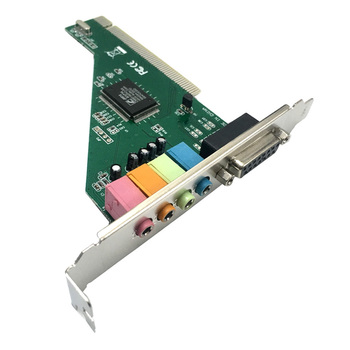 ZML PCI Sound Card Audio Interface with MIDI Game Port 3.5mm Computer Audio Card Adapter 4 Channel Audio Stereo Sound Card Звуковая карта