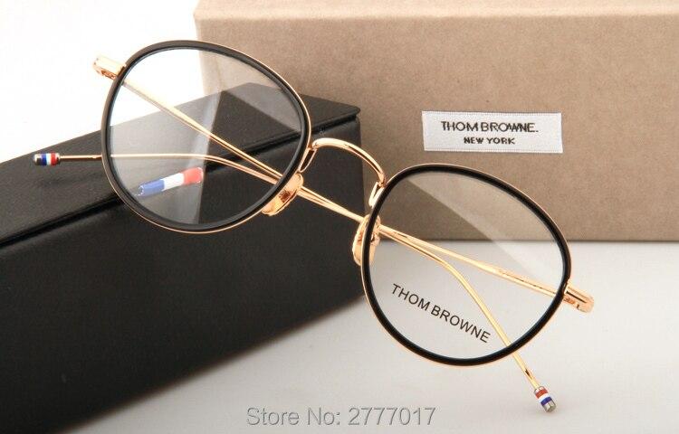 42f5df363e1 Thom Browne eyeglasses metal frames TB905 men women Oculos Vintage ...