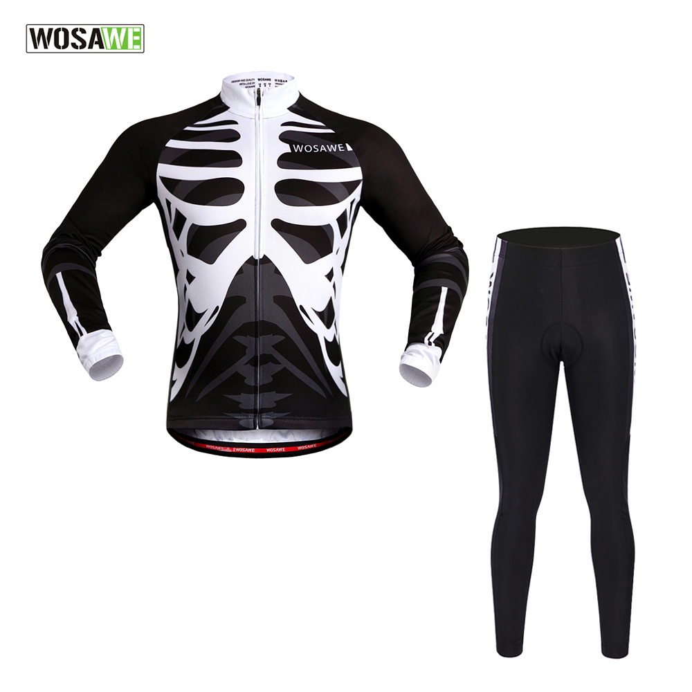 WOSAWE New Team Long Sleeve Cycling Jersey/Ropa Maillot Quick-Dry Spring & Summer Ciclismo Bicycle MTB Bike Cycle Clothings