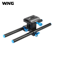 Aluminum Alloy DSLR Camera Baseplate 15mm Rail Rod Support System 25cm in Length with 1/4 Screw Quick Release Plate