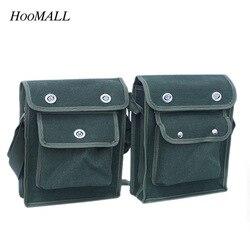 Многофункциональные сумки Hoomall для инструментов, Холщовый Электрический корпус, карманные инструменты, износостойкий Органайзер