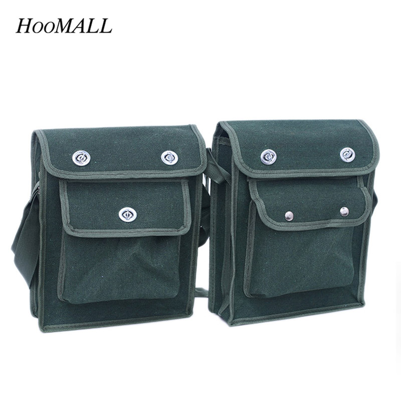 Hoomall Toolbox Multi-Functional Wear-Resistant Maintenance Package Shoulder Canvas Electrical Hardware Tool Bag Organizer tool kit features oxford cloth backpack canvas thickening electrician package tool bag maintenance package