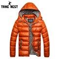 Tangnest nova chegada ocasional 2017 do homem confortável casaco de alta qualidade casaco quente para o inverno plus size m-3xlmen atacado 516