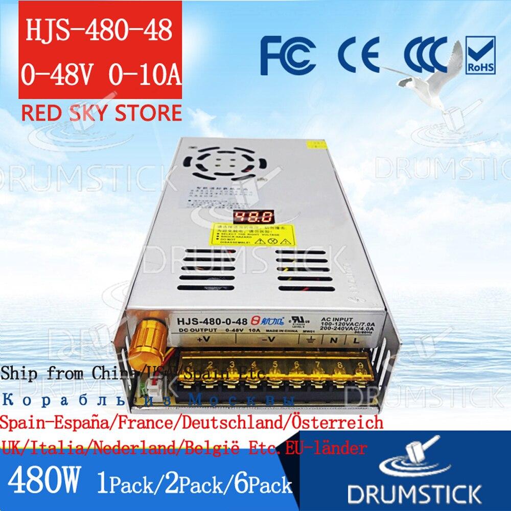 (1 PACK) multifuncional fonte de alimentação ajustável display Digital 0-48V 0-10A 5V12V24V36V 2A3A5A 25W60W72W 120W240W 360 W/480 W DIODO EMISSOR de luz