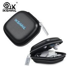 IKSNAIL Earphones Case Hard Headphone Bag For Apple Airpods Case Earpods Ear Pad