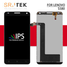 Srjtek screen For Lenovo S580 LCD Display Touch Screen Digitizer Panel Assembly replacement parts 5.0'' s580 For lenovo display