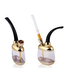 Cigarrillo con Filtro Titular de Fumar Tabaco de pipa de agua Shisha de oro el mejor tabaco de filtración. pequeña pipa de agua uso de la oficina para la Salud.