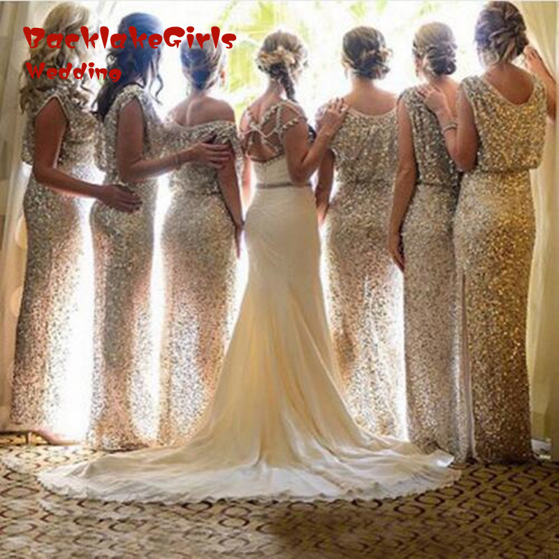 Bridesmaid font b Dress b font font b 2017 b font Sheath Scoop Floor Length Sleeveless