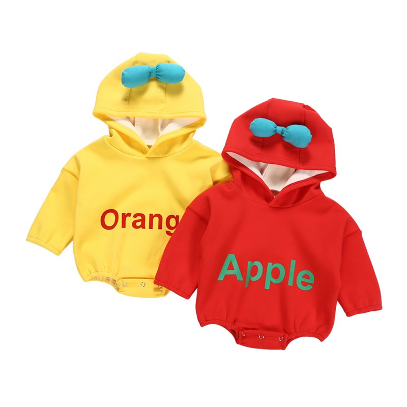 Spring Baby Rompers Plus Velvet Warm Hooded Jumpsuits For Baby Girls Clothes 2019 New Year Baby Boy Girl Rompers