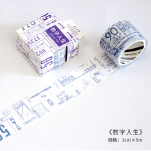 30mm Vintage Digital age Numbers Travelling Diary decoration washi tape DIY planner Diary scrapbooking masking tape Escolar