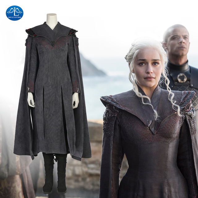 MANLUYUNXIAO New Game Of Thrones Costume Women Daenerys Targaryen ...