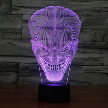 Free Shipping 1 piece Multi Color USB charge Smile Jack Ghost 3D LED light with 3D luminaria night lamp for Hallowmas gadgets free shipping red multi metal motors for 3d airplanes multi rotors 1304 1306 1308 1404 1904 1905 2203 2204 2403 2405