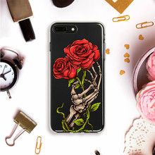 Flower Print Phone Case For iPhone 7 8 Plus XS Max XR Silicone Cases For iPhone X 8 7 6 6S Plus 5 SE Soft transparent TPU Cover цена и фото