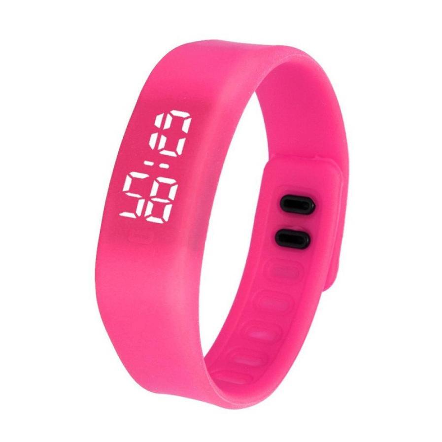 Womens Mens Rubber LED Watch Date Sports Bracelet Digital Casual Sport Wrist Watch Vintage Bracelet
