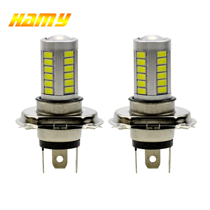 цена на 2PCS White H4 LED Bulb 5630 33SMD 8W 33 SMD Car Light 12V DRL Daytime Runing Traffic Light Driving lights fog light B