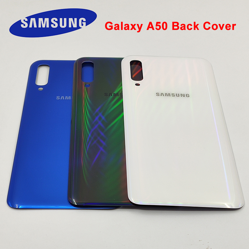 Original Samsung Galaxy A50 2019 A505 A505F A505DS Back Cover Battery Case Rear Housing Cover Replacement For Samsung SM-A505F