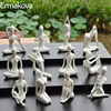 ERMAKOVA 12 Styles Abstract Art Ceramic Yoga Poses Figurine Porcelain Yoga Lady Figure Statue Home Yoga Studio Decor Ornament 1