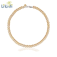 LiiJi Unique High Quality AAAA Freshwater Pearl 925 Sterling Silver Elegant Necklace For Women 2 Colors