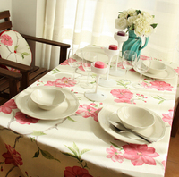 Hot Sale Korean Style Floral Plaid Table Cloth For Home Hotel Wedding Party Coffee Restaurant Table