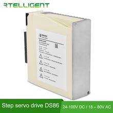 Rtelligent nema34 ds86 circuito fechado motorista servo driver display digital avançado 24 100vdc ou 18 80vac para a máquina de escultura