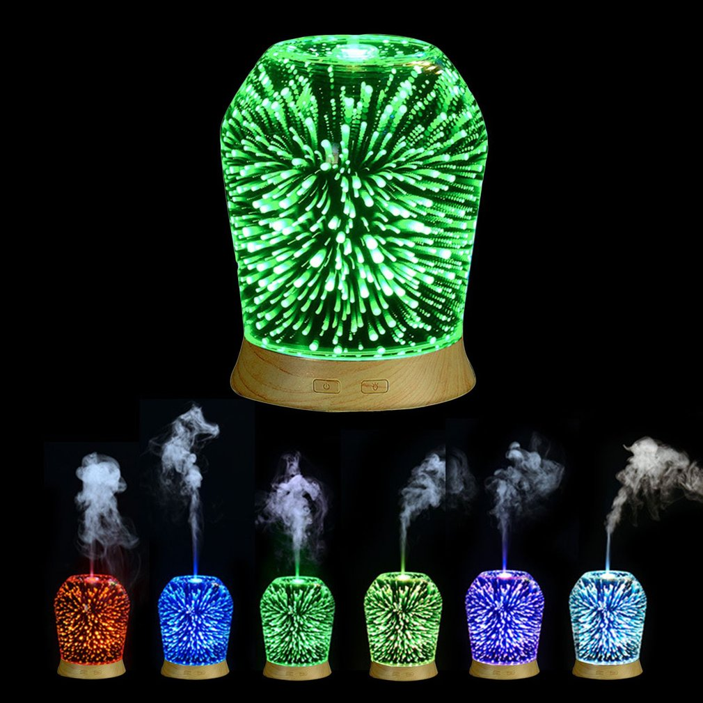 100ML Compact 3D Effect Light Essential Oil Aroma Diffuser Ultra Quiet Ultrasonic Humidifier Aromatherapy Mist MakerDropshipping hot sale humidifier aromatherapy essential oil 100 240v 100ml water capacity 20 30 square meters ultrasonic 12w 13 13 9 5cm