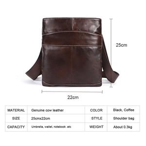 Image 5 - MVA Messenger Mens Bag shoulder Mens Genuine Leather bag Flap Small male man Crossbody bags for men natural Leather bags 703