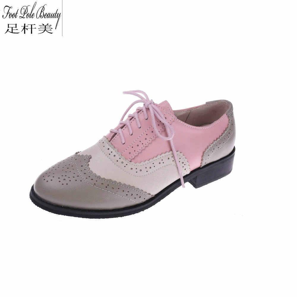 Brand design Genuine leather Pink+white
