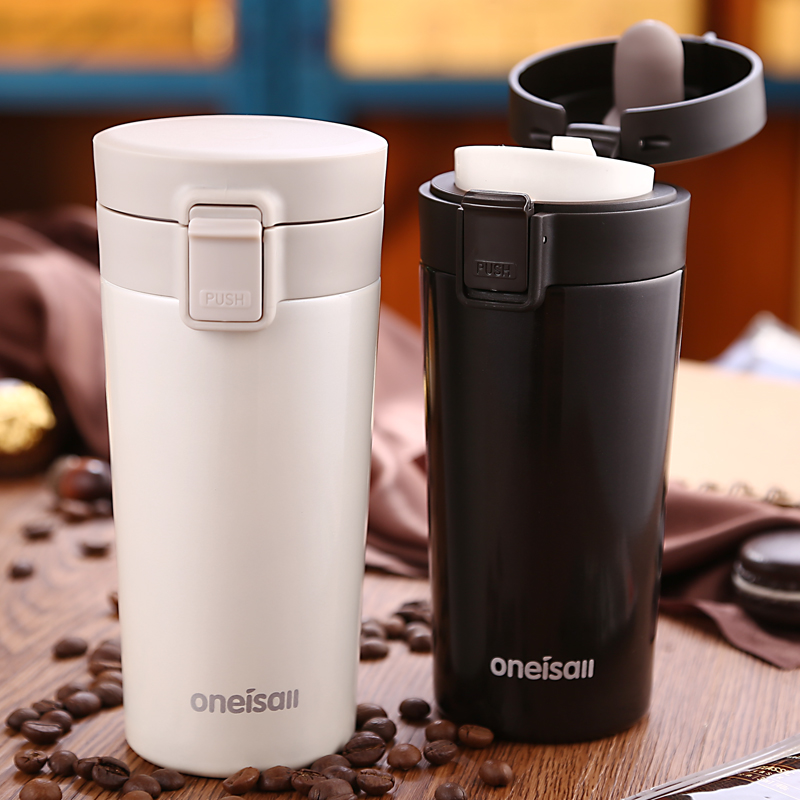 Hot Bilayer 304 Stainless Steel Insulation Thermos Cup Coffee keep Mug Thermo Mug water for bottle