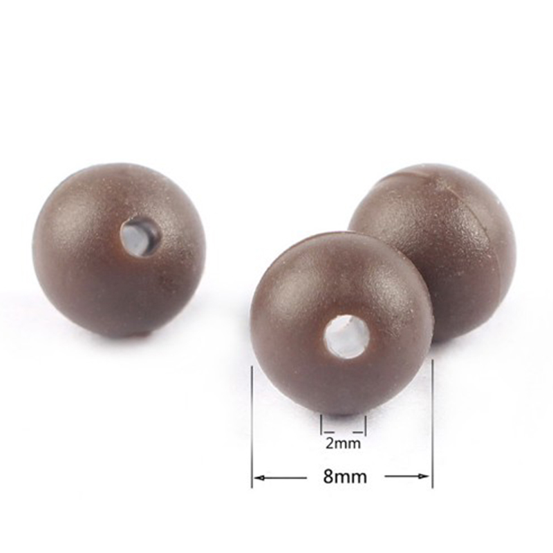 Carp Beads 8mm Fishing Floating Soft Tackle 50PCS Round Rubber Tool Useful