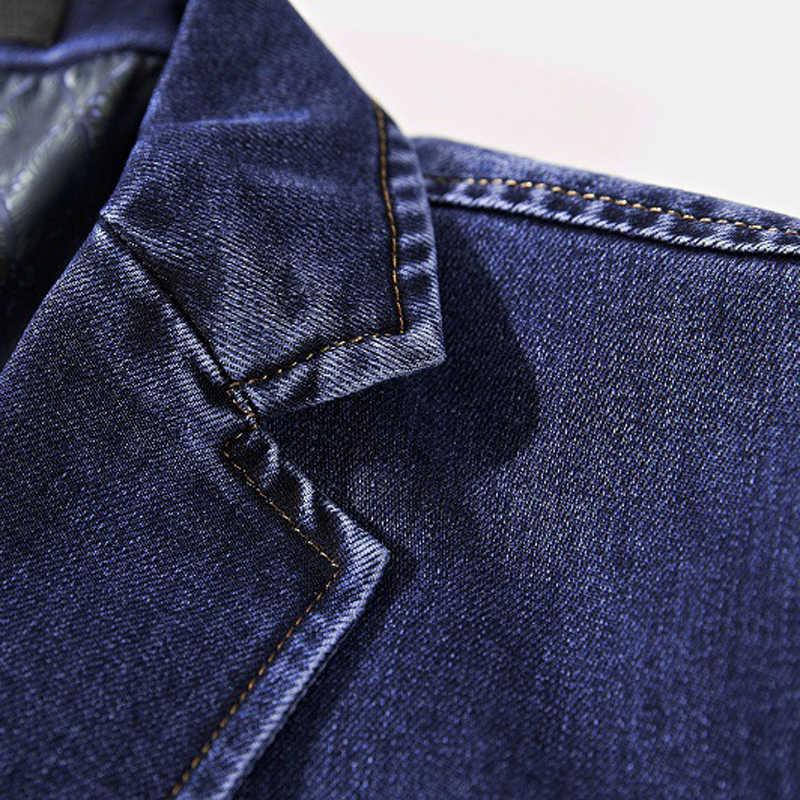 Европейские и американские Для мужчин джинсовые куртки, XXXXL высокое качество дизайнерский бренд Весна Мужская джинсовая куртка и пальто плюс Размеры 4XL C896