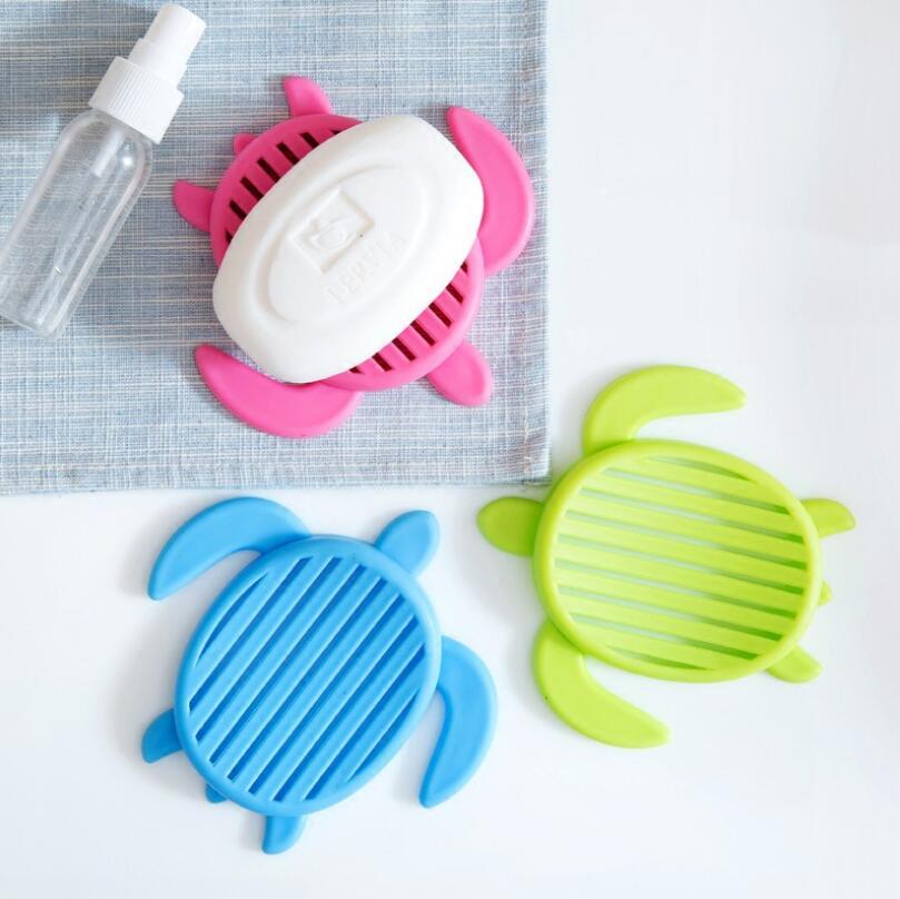 Creative Turtle Shaped Bathroom Soap Holder Draining Soap Box Kitchen Drainage Soap Dish LX4538