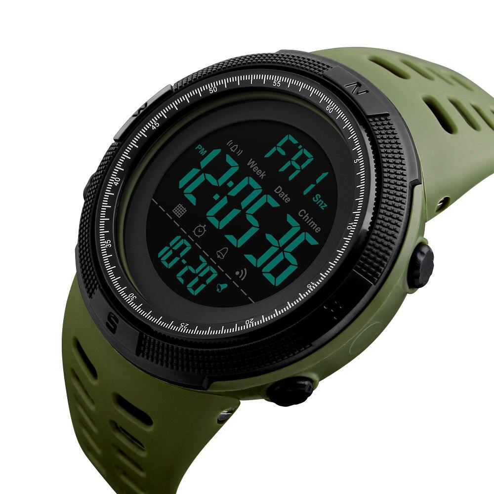 Skmei 1251 hombres relojes deportivos marca de lujo buceo 50 m Digital LED militar reloj hombres electrónica moda Casual relojes 2018