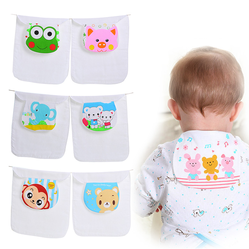 New 1 Pcs Cotton Baby Wicking Towel Absorb Sweat Random Cartoon Print Baby Towel Back Towel Perspiration Wipes Reusable