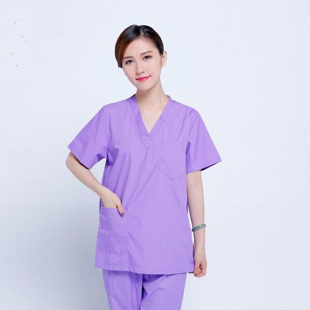 Fashion Short Sleeve Women Surgical Scrub Sets Hospital Uniforms ...