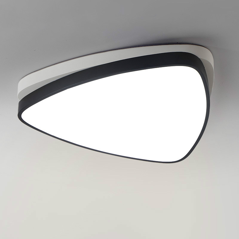 Modern brief bedroom triangle iron LED ceiling lamo norbic home deco dining room remote control acrylic lighting fixture