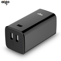 Aigo 10000mAh Power Bank Dual USB Output Protable Charge Powerbank LED Indicate Mobile Phone Backup Portable