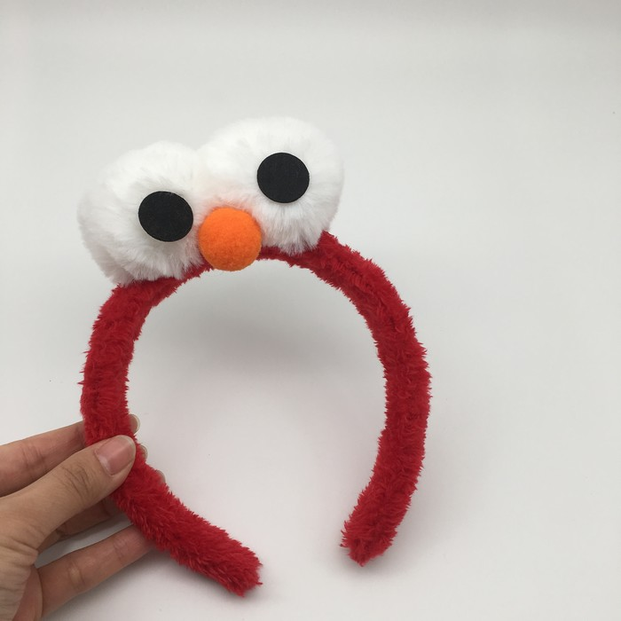 Sesame Street Elmo Blue Red Cookie Monster Cartoon Hair Band Hairpin Head Band Plush Toy Gift