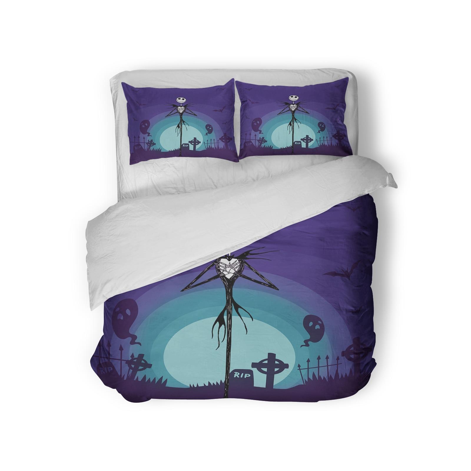 3PCS Halloween Bedding Kids Single Size Cartoon Nightmare Before ...