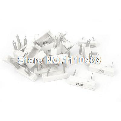 30 Pieces 1 Ohm 10% Tolerance 15 Watt Ceramic Cement Power Resistor new customized fixed type 400w 450 ohm ceramic tube resistor