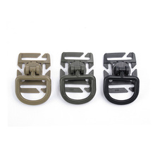 2Pcs/set Outdoor Camping Backpack Accessories Equipment 8 Section Rotating D-type Hanging Buckle Tourism Portable Tools Gear