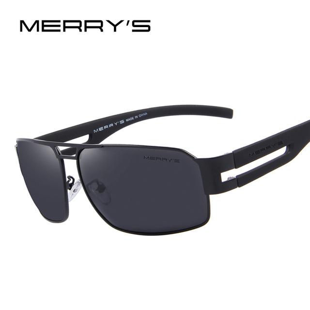 Merry's aluminio gafas de sol polarizadas de los hombres clásicos de la marca de gafas de sol gafas de emi defensa coating lentes de conducción shades s'8452
