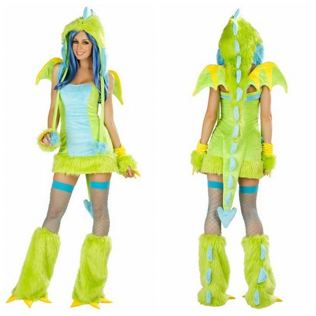 New Animal Cosplay Halloween Fancy Sexy Womenu0027s Dragon Dress Puff Witch Costume Adult Masquerade Monster clothes  sc 1 st  AliExpress.com & New Animal Cosplay Halloween Fancy Sexy Womenu0027s Dragon Dress Puff ...