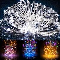 שמש מופעל אורות מחרוזת 20 M 200 נוריות חוט נחושת חיצוני פיית אור עבור גן נופש בית חג מולד שנה חדשה קישוטי