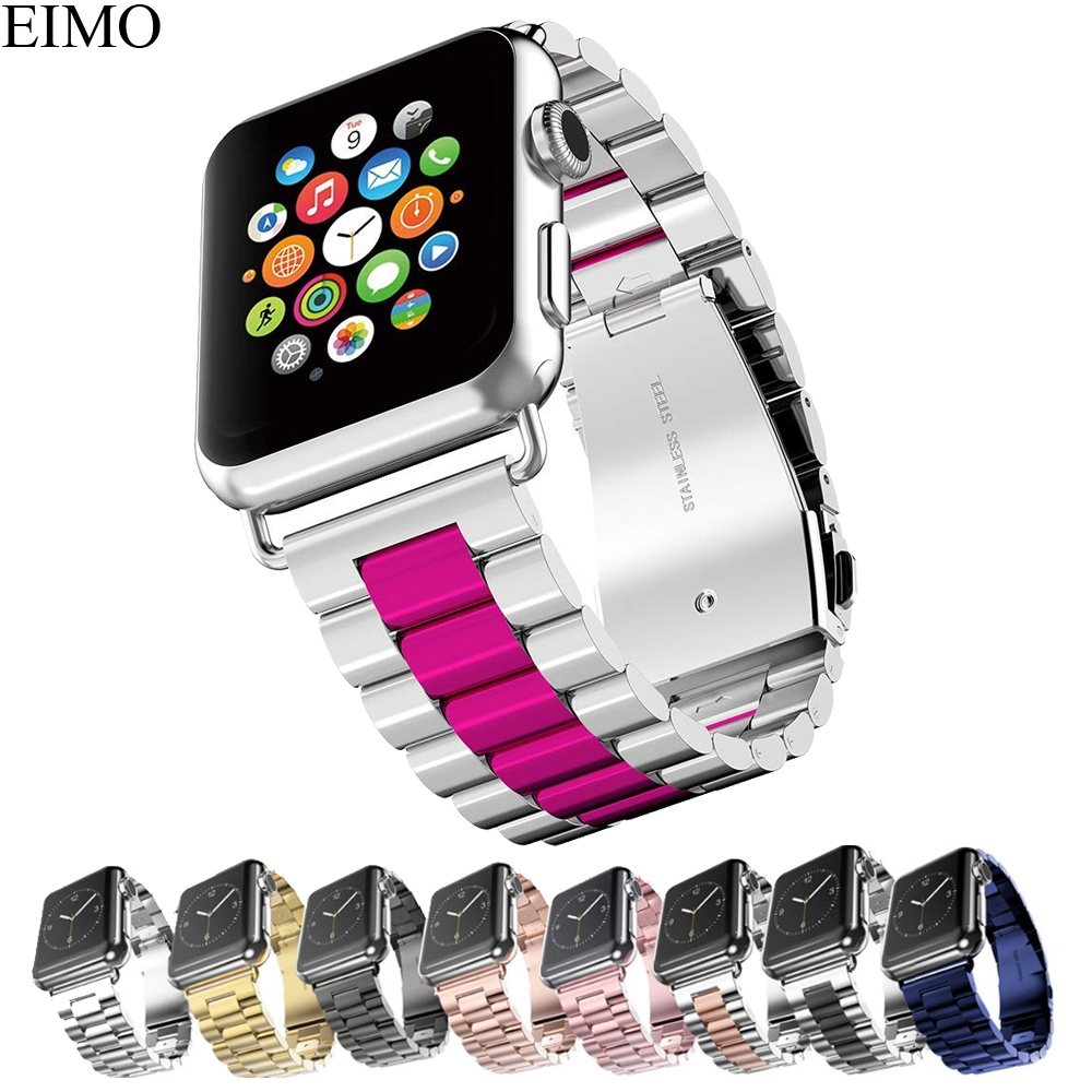 EIMO correa de acero inoxidable para Apple Watch band 42mm 44mm 38mm 40mm Iwatch serie 4 3 2 1 Classic enlace pulsera Correa