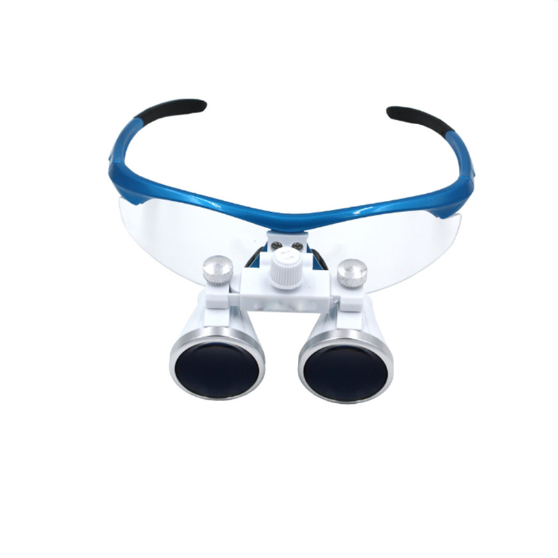 Dental Loupes 3.5X 420 mm Surgical Magnifying Glasses Dental Equipment Surgical Dentists Magnifier with Eyeglasses Frame