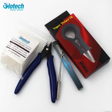 Glotech Pliers+ muti function Ceramic Tweezer+Coil Jig DIY Tools Kit For E cigarette RBA RDA RTA Atomizers coil vaporizer tools