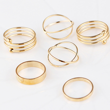 6 pcs knuckle rings set for women boho lady fashion jewelry vintage ring sets best selling VR415